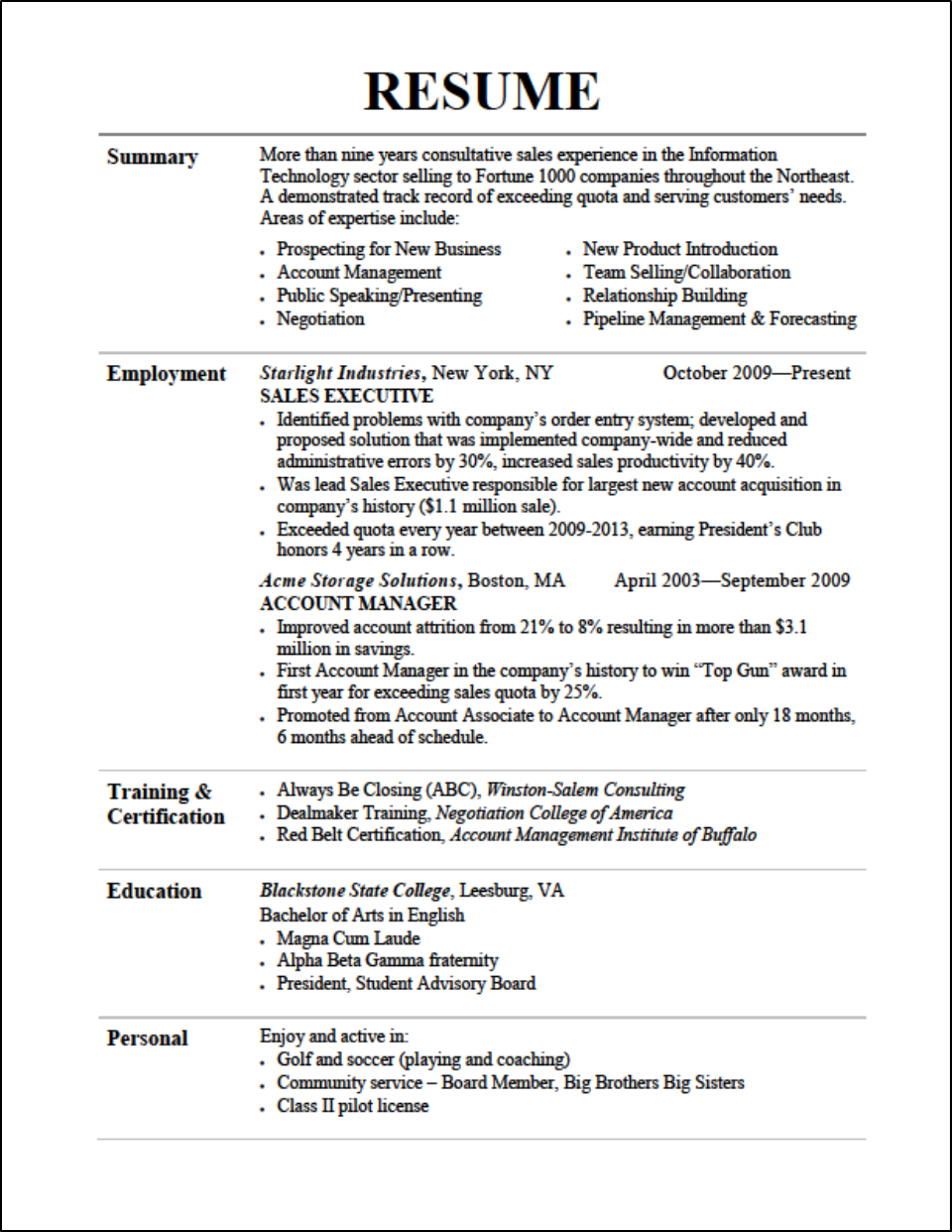 Killer Resume Tips For The Sales Professional Karma Macchiato Sample  Affiliations On Resume