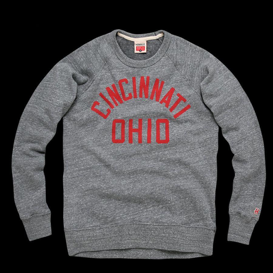 Cincinnati Ohio Crewneck Homage Clothing Cincinnati Ohio Long Sleeve Tshirt Men [ 900 x 900 Pixel ]