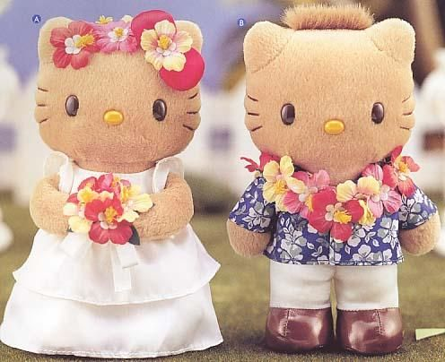 Hello Kitty Hawaiian Coloring Pages : Kitty and daniel hello kitty hawaiian wedding plushes show kitty