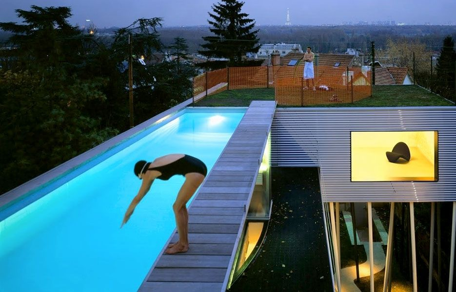 Not For The Height Wary Rem Koolhaas Stunning Pool Atop The