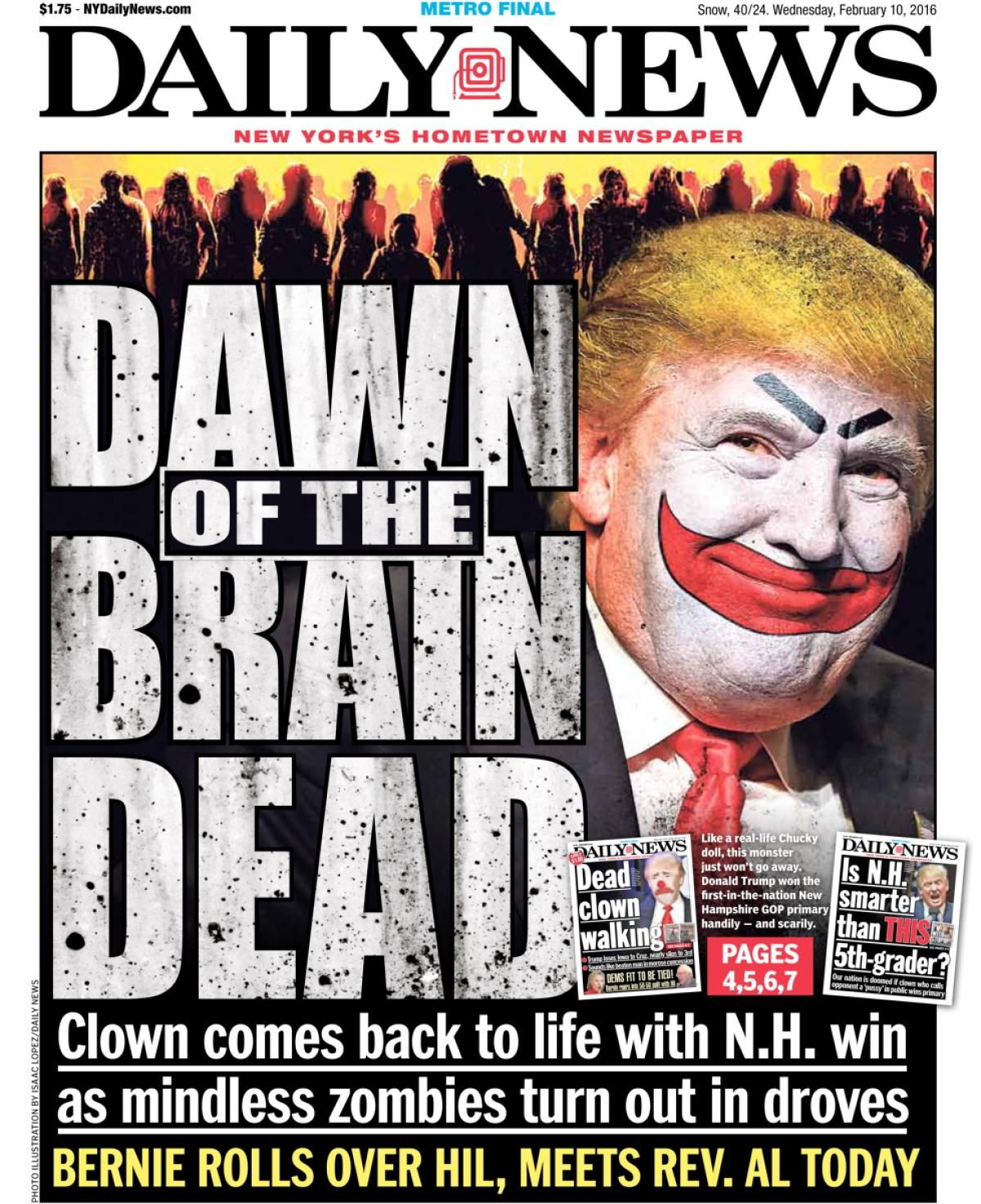 Women will continue to stand up for our rights after march new york daily news - House Of Horrors November 9 2016 Photos New York Daily News Front Pages On The Presidential Election