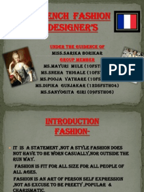 French Fashion Designer Debut Program French Fashion Designers Read Online For Free