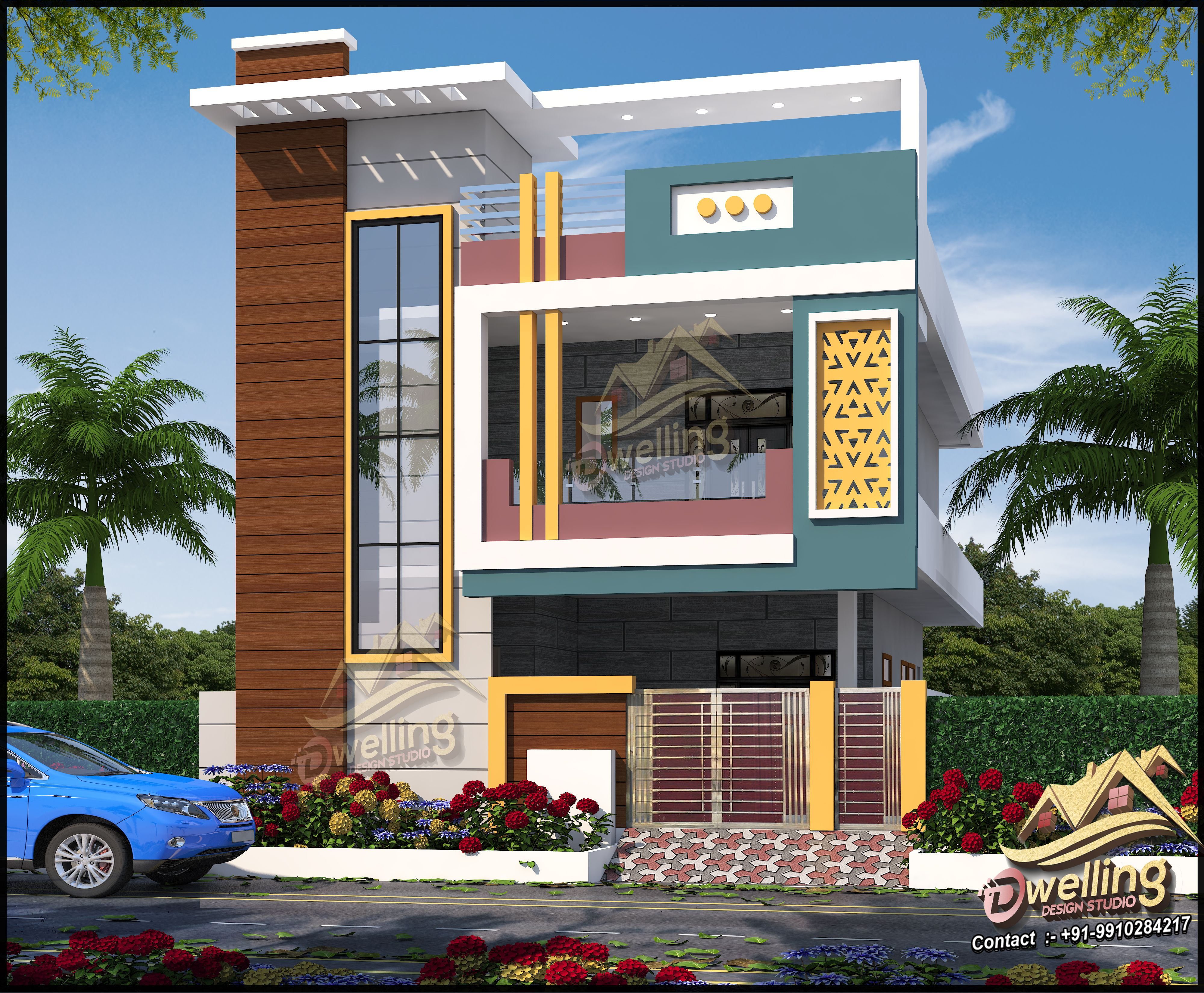 She even open a view window. Call Or Whatsapp Me 919910284217 Mail Dwellingdesignstudio99 Gmail Com In 2021 House Balcony Design Small House Front Design Small House Design Exterior