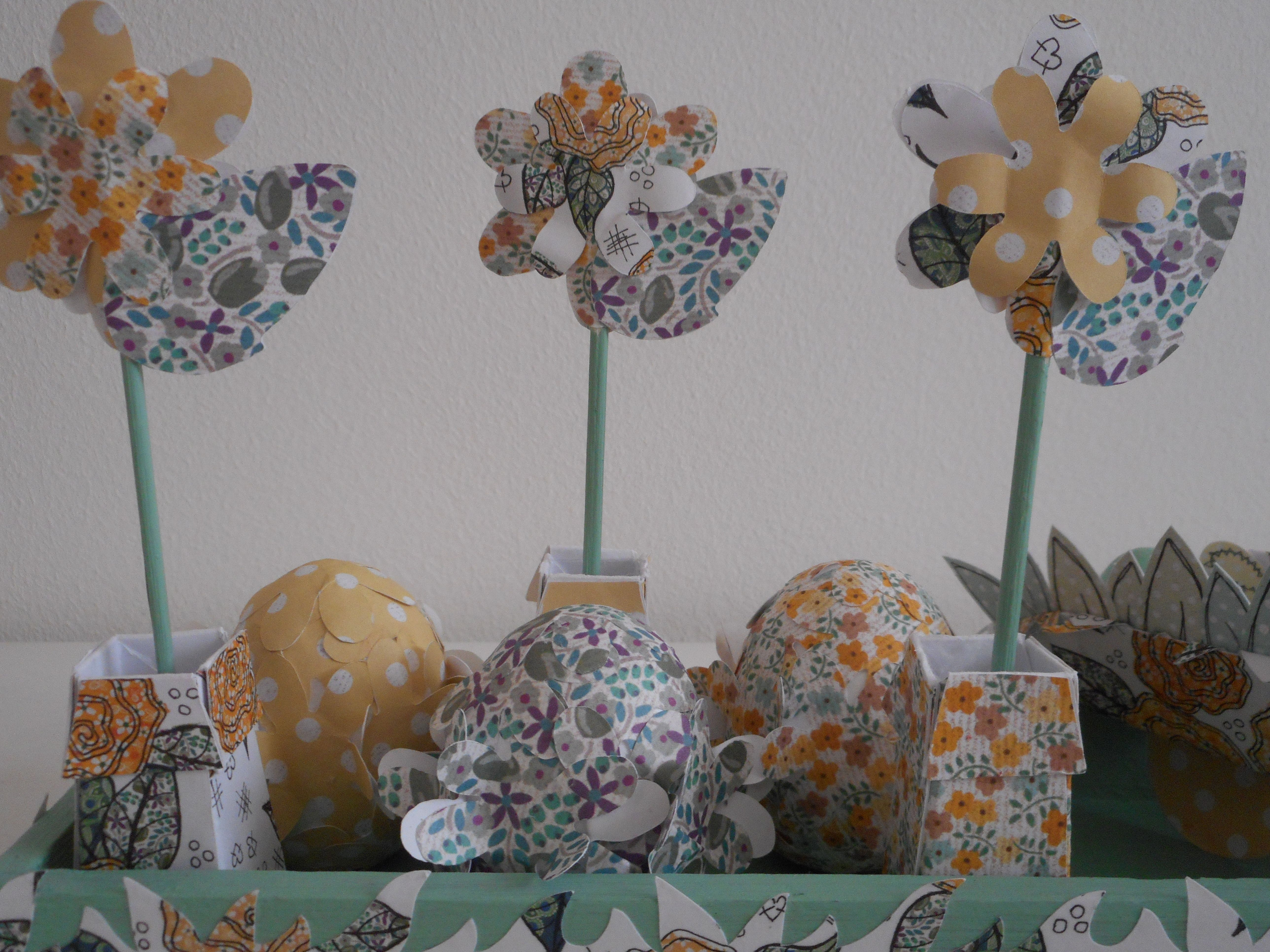 Detail Of Flowers In Decorative Easter Garden By Phillipa Lewis