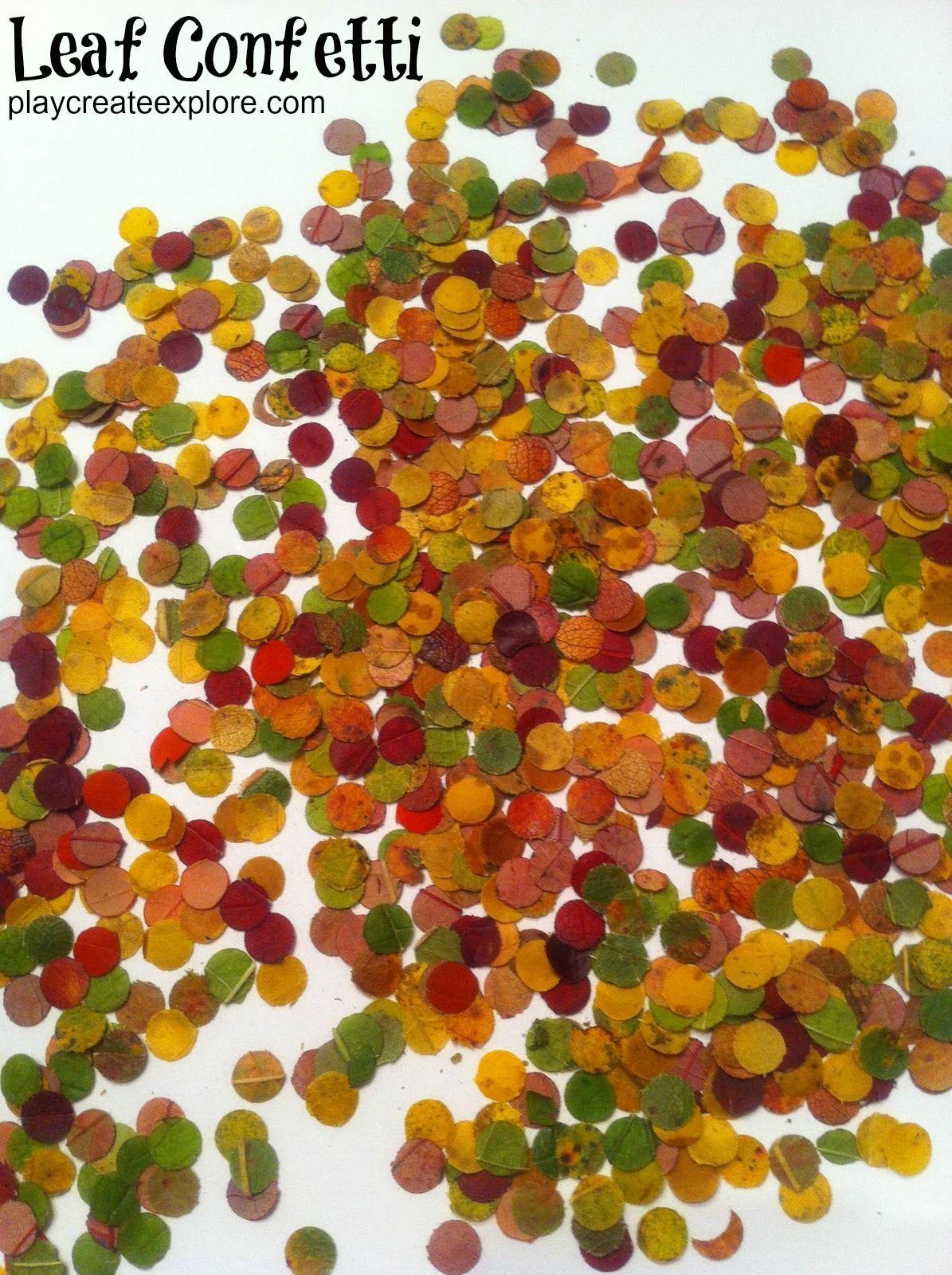 Confetti Van Herfstbladeren