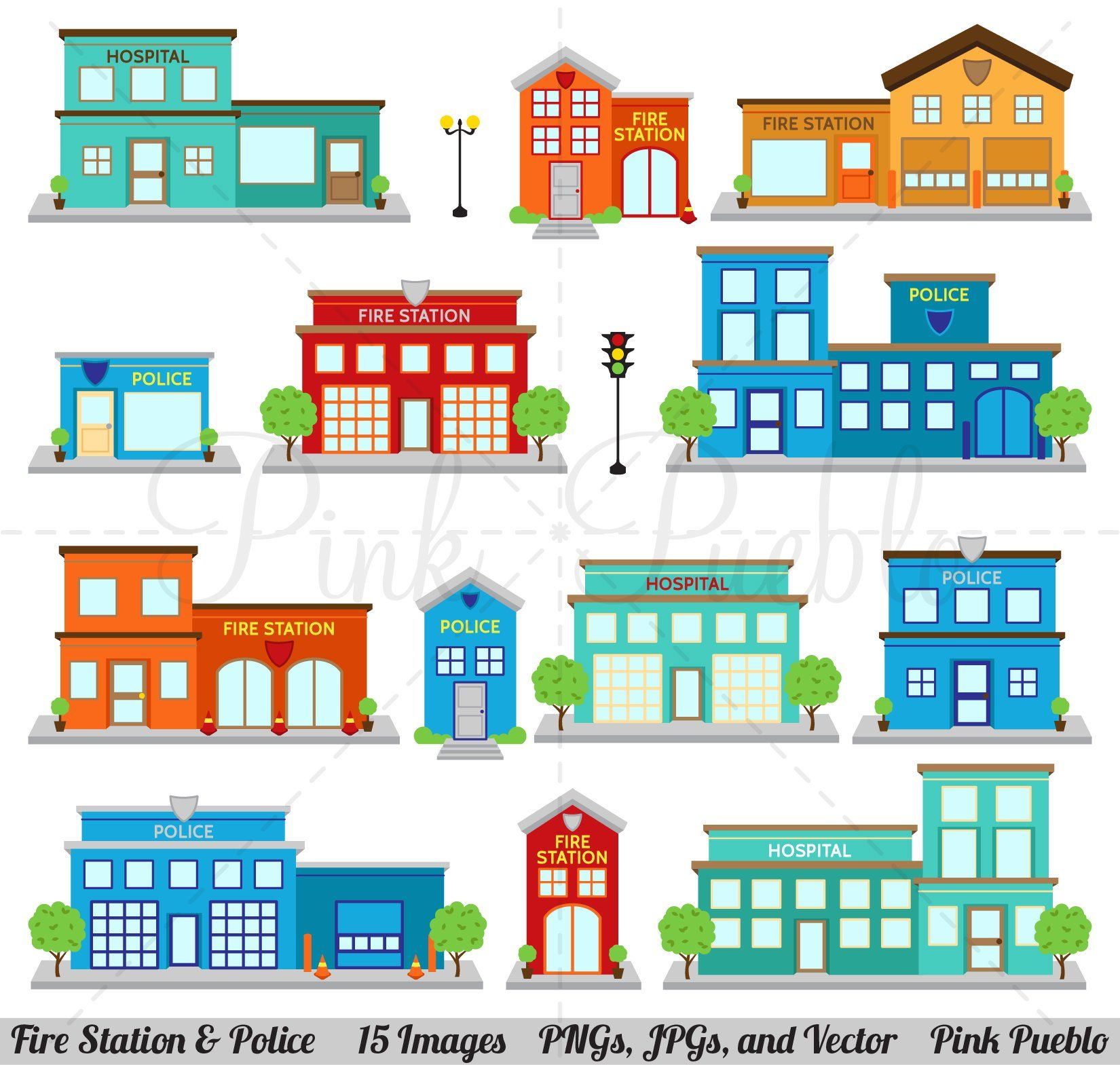 Fire Station Police Clipart And Vectors Fire Station Clip Art Station