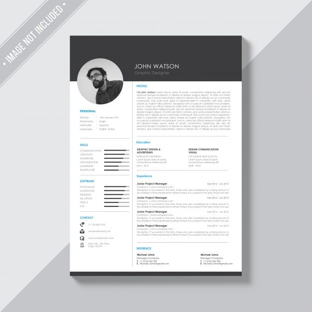 Download Black And White Cv Template For Free Cv Template Free Cv Template Creative Resume Templates