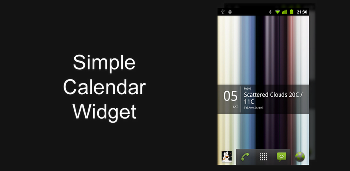 Simple Calendar Widget for my Android Phone