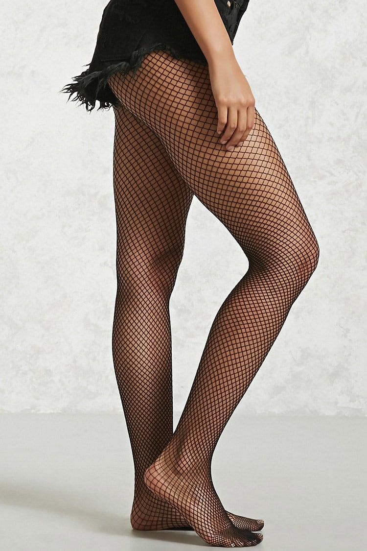 04012a852e1b6 FOREVER 21 Sheer Fishnet Tights - A pair of sheer tights featuring a  stretch-fishnet design and an elasticized waist. Shop at www.fashion-tights.net  #tights ...