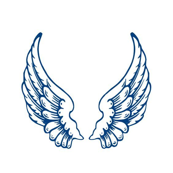 angel wings template Largeangelwings clip art - vector clip art - angels templates free