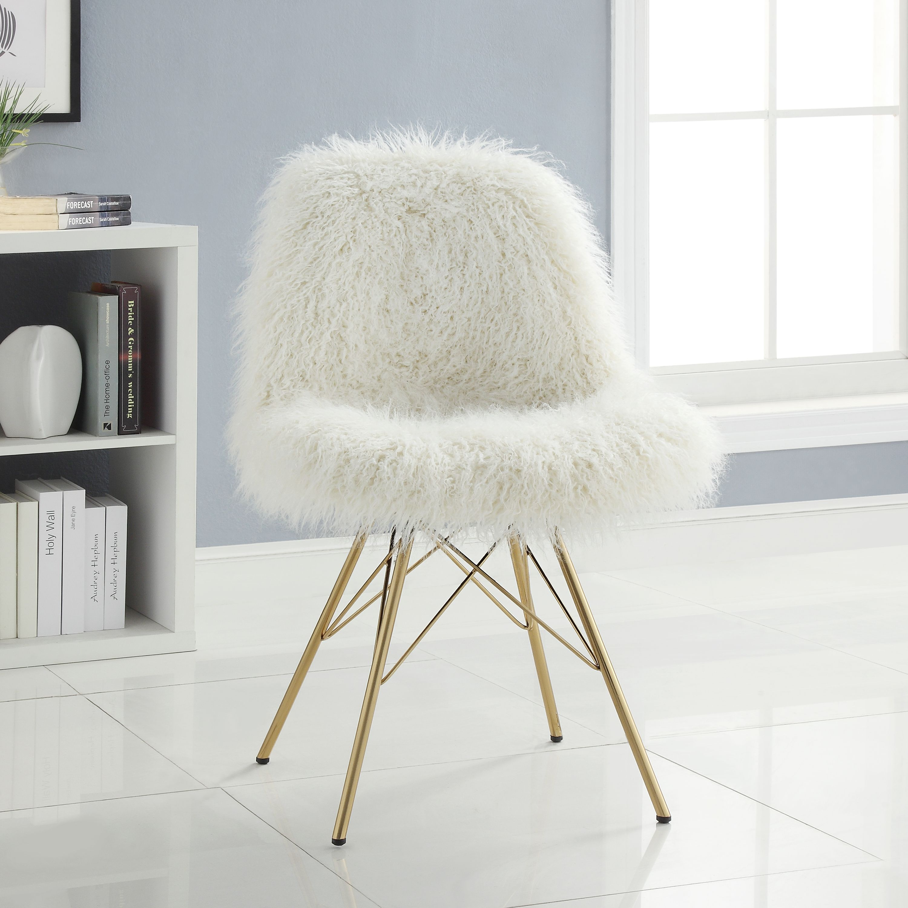 Dramatic and bold the remy faux fur chair is a trendy