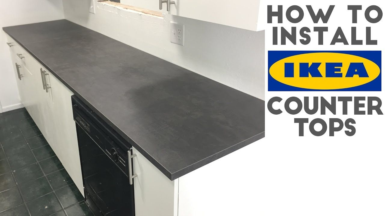 How To Install Laminate / IKEA Countertops | Quick and Easy ...