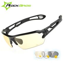 RockBros Cycling Glasses Bike Photochromatic Bicycle Sunglasses UV400 Goggles