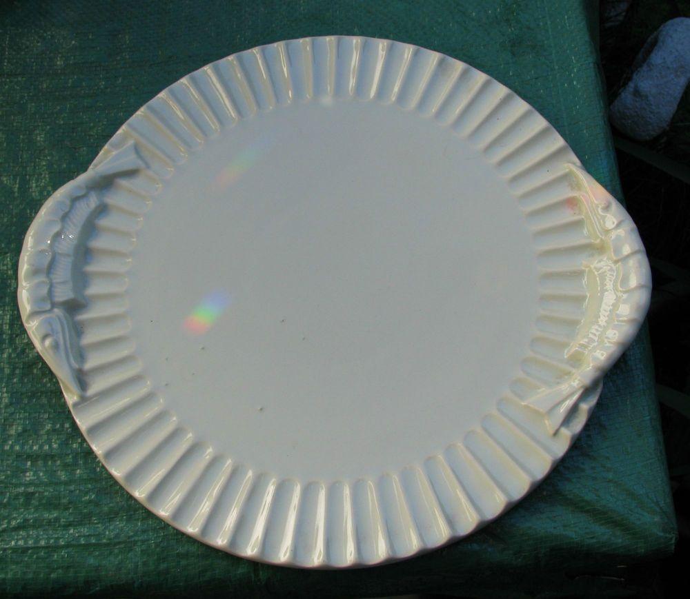 VINTAGE DIANA AUSTRALIAN POTTERY PRAWN SERVING PLATE PLATTER SHRIMP ...