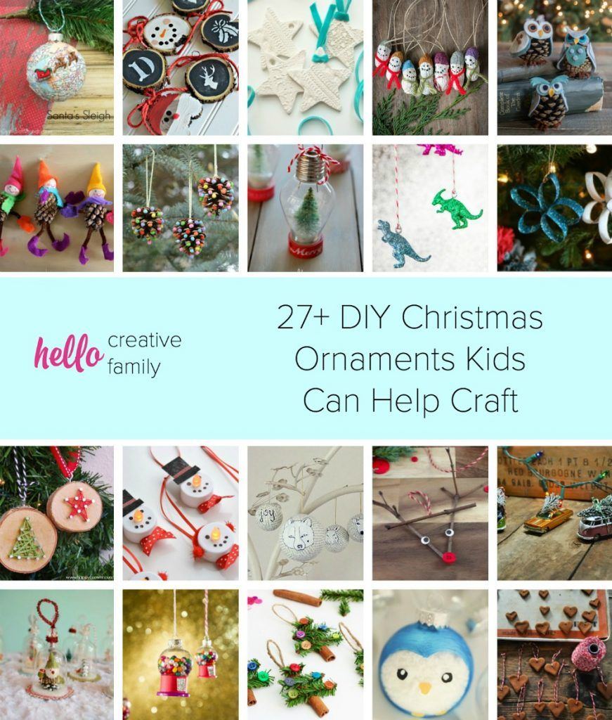 Family Christmas Craft Ideas Part - 19: 27+ DIY Christmas Ornaments Kids Can Help Craft
