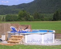 Above Ground Pools Decks Idea Build Some Steps And Small Platform