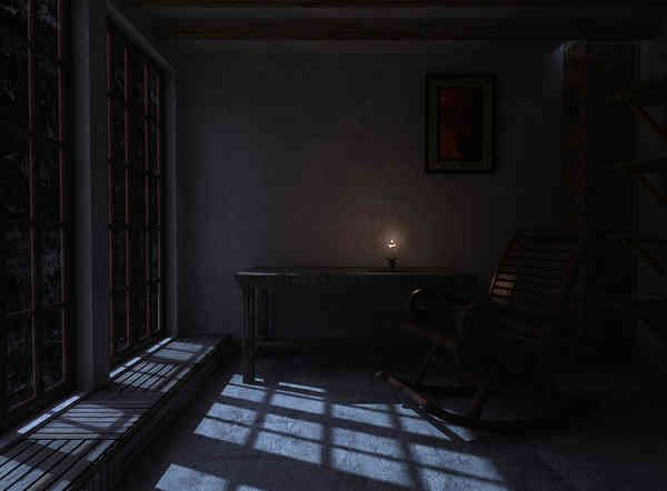 Room Lit By Moonlight Painting Google Search Three