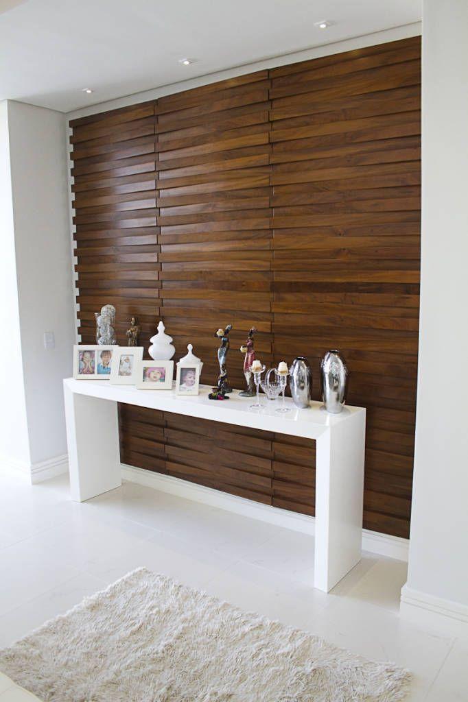 10 ideas para revestir tus paredes con madera y que se - Revestimiento vinilico bano ...