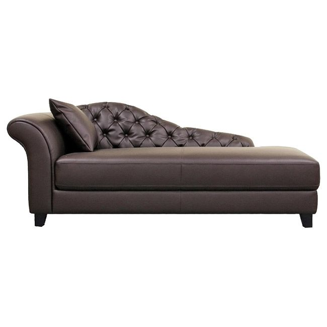 Perfect Lowest Price On Baxton Studio Josephine Brown Leather Victorian Modern  Chaise Lounge Shop Today!