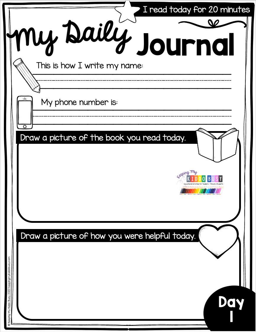 TEACHING FROM HOME materials for kindergarten worksheets