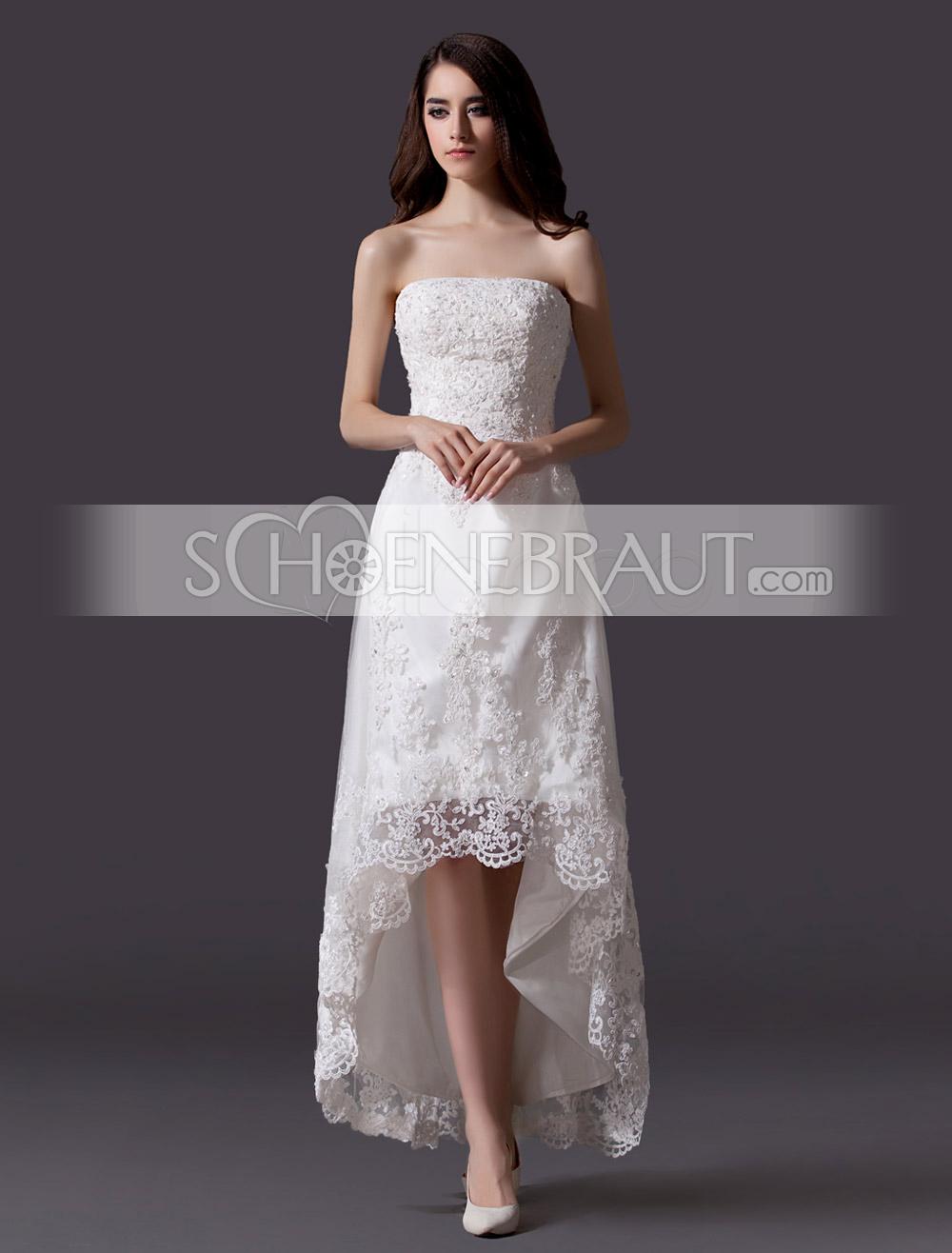 Alle Kleider partykleid für mollige : Standesamtkleider Hochzeitskleider standesamt spitze vokuhila ...