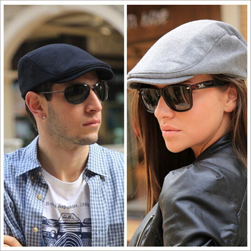 Cheap All Seasons caballero de moda tapa octogonal Newsboy Cap hombres  sombrero de la boina plana f57a81b7857