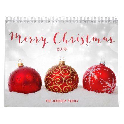 Merry Christmas Custom Photo Calendar 2018 | Calendar 2018