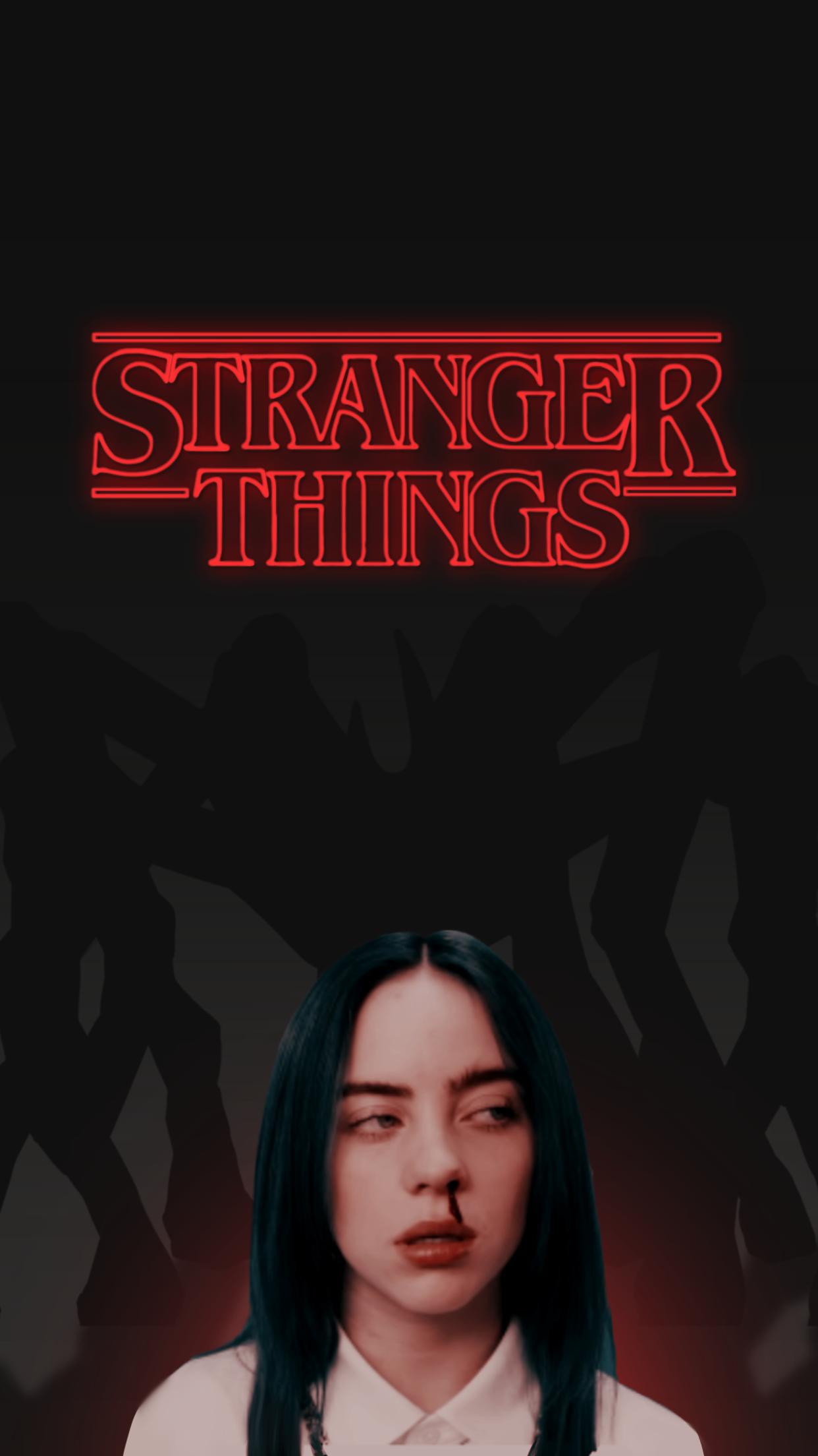 Stranger Things X Billie Eilish Iphone Wallpaper Stranger Things Stranger Wallpaper