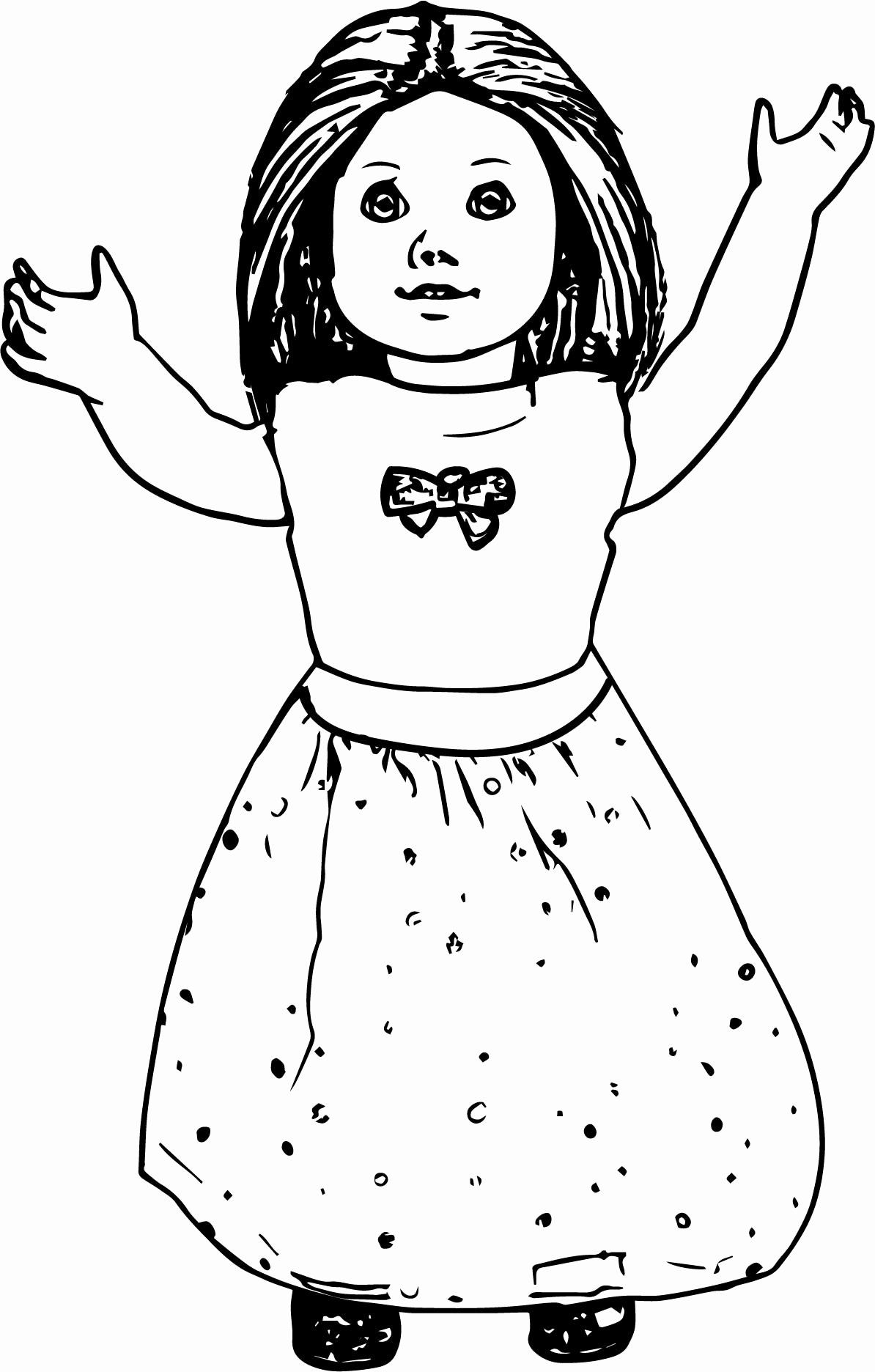 28 American Girl Doll Coloring Page in 2020 | Coloring pages for girls,  American girl doll printables, American girl
