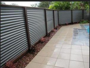 Diy Screen Galvanized Metal Corrugated Metal Fence Backyard Fences Corrugated Metal Fence Fence Design