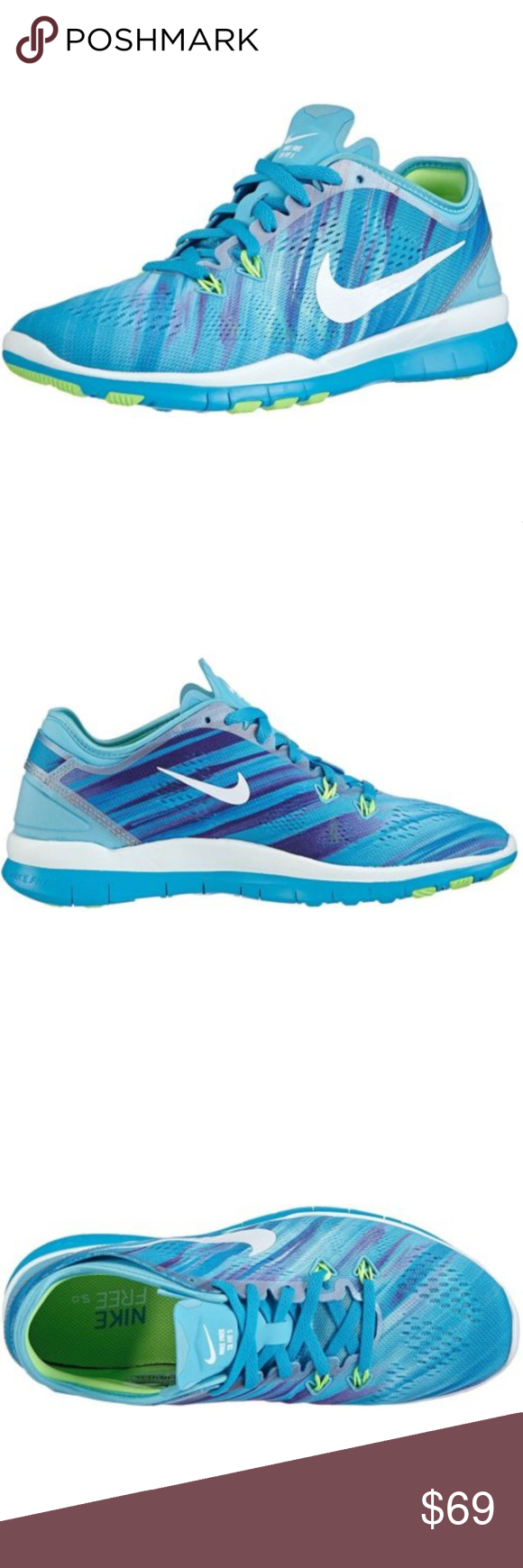 Women s Nike Free 5.0 TR Fit 5 Print Training Shoe This listing is for one  pair of Nike shoes 7d26efaedec