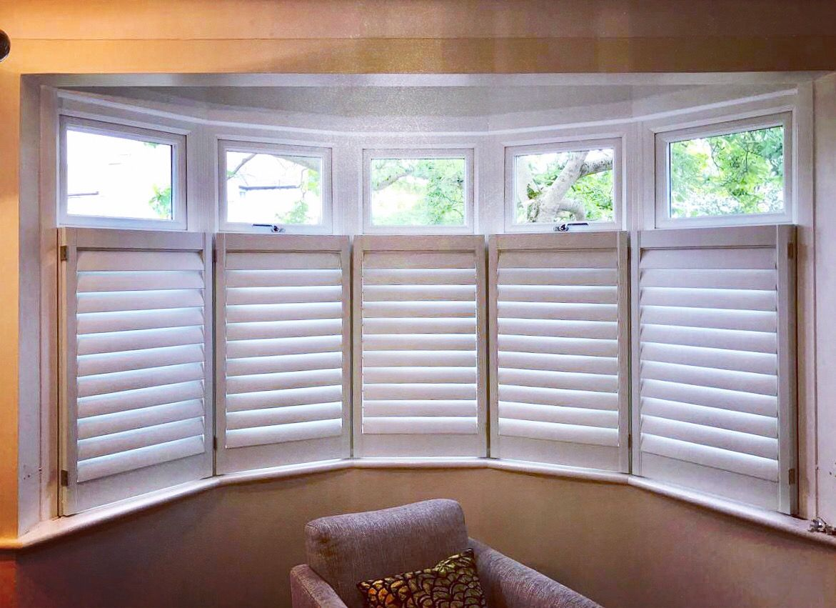 How To Dress Up Round Bay Windows Take Down The Heavy