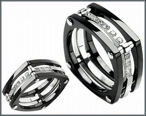astonishing black tungsten wedding bands with diamonds for men more design httparticleall - Tungsten Wedding Rings