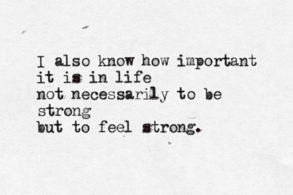 Feeling strong