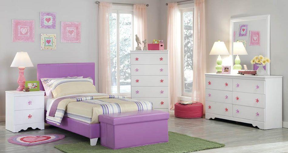 Kith Furniture Kids 269 Savannah Pink Purple Bedroom Set