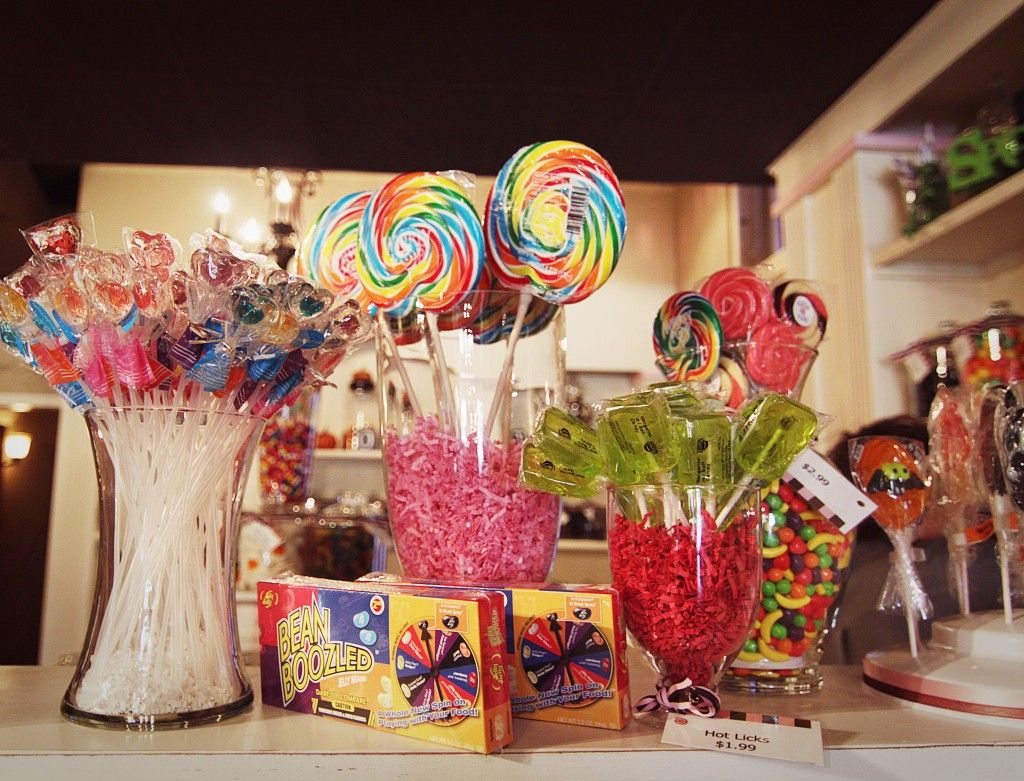 Tips for displaying candy in your decor.