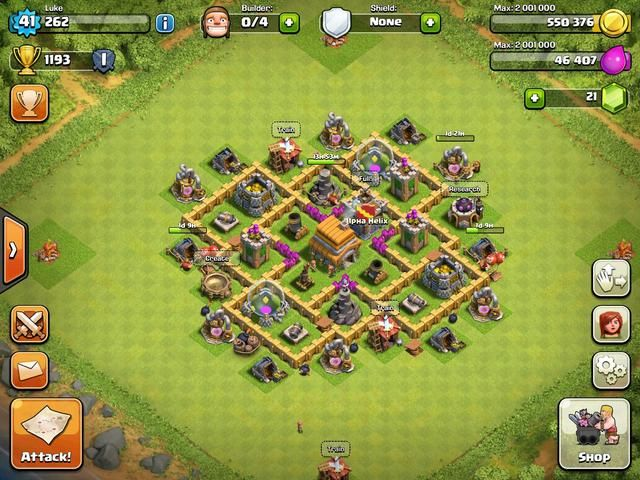 Coc Th 6 Defence Base Layout 3