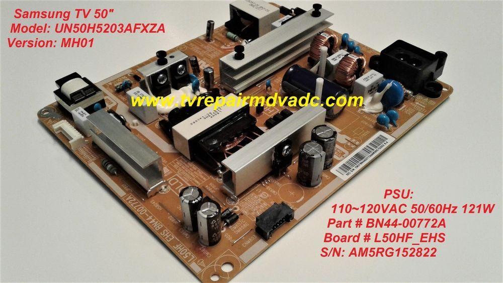 Samsung 50 UN50H5203AFXZA MH01 BN44-00772A Power Supply Board Unit