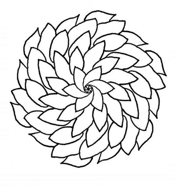 beautiful mandala flower coloring page kids play color