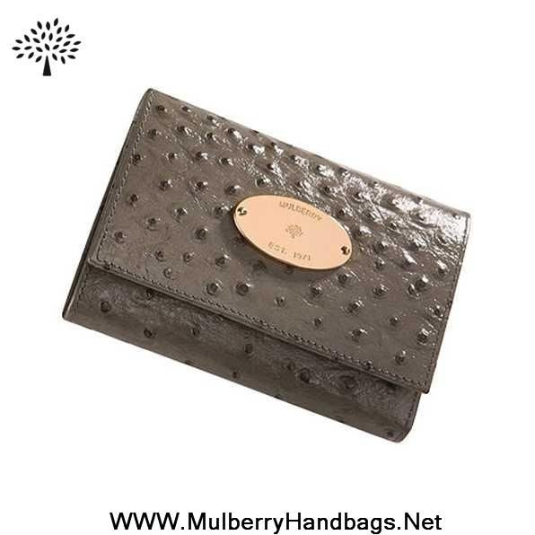 2014 Womens Mulberry French Purse Khaki Sale Online