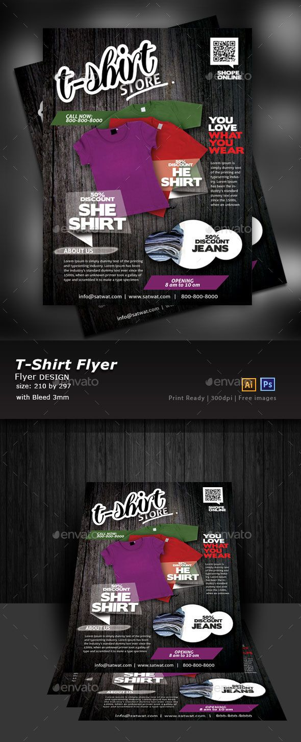 Clothing Store Flyer Templates