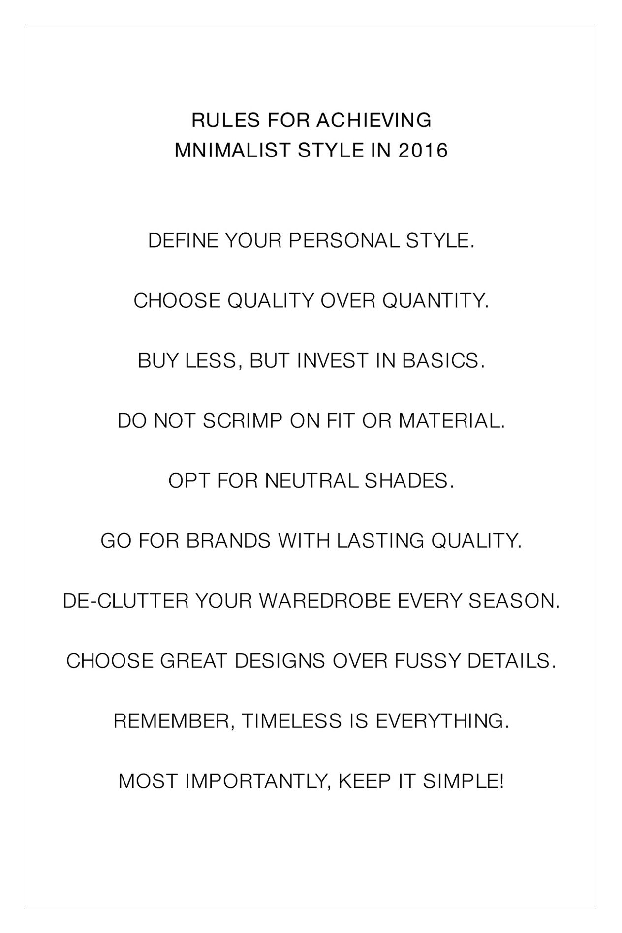 cb7ca5a7c62 10 Rules for Achieving Minimalist Style in the New Year