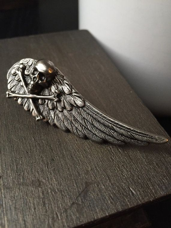314459878a6f Mens Accessories - Skull Tie Clip - Wing Tie Clip - Fathers Day Gift ...