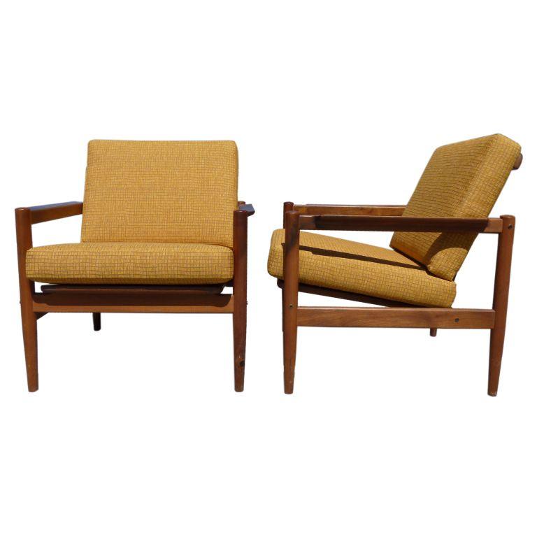 Pair of Teak Armchairs by Borge Jensen & Sonner