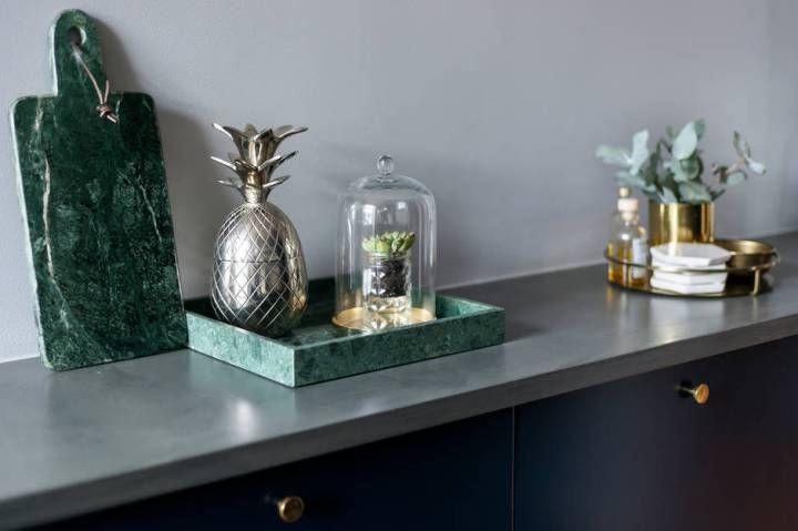 Se puede tener muebles azules y acertar Sofás azules, Cocina azul - muebles de pared
