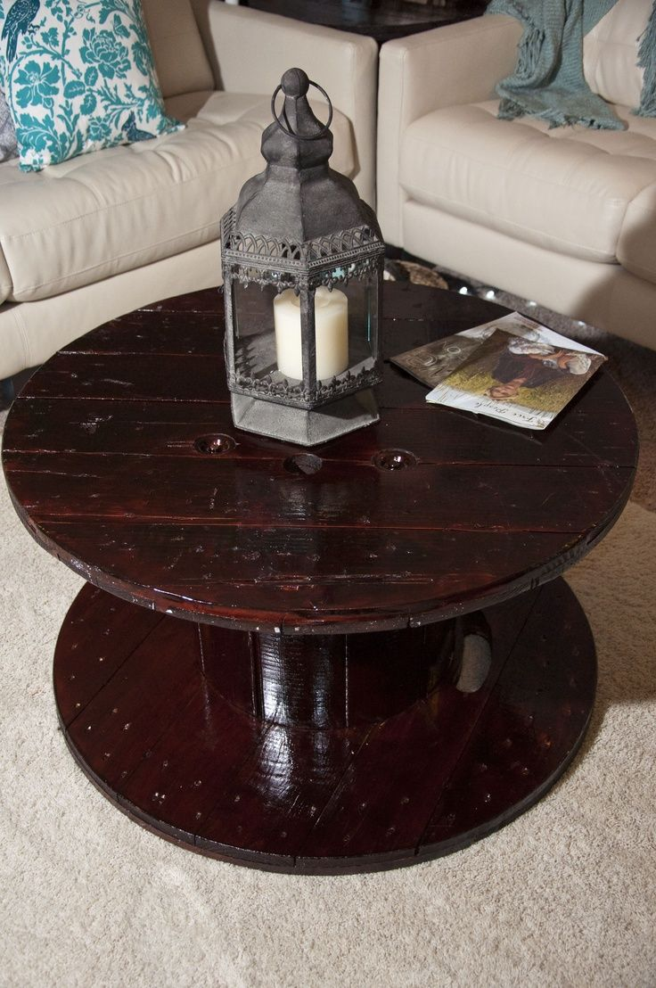 More On The Wooden Spool Coffee Table I Found A Today Side Of Road And Want It To Look Like This When M Done