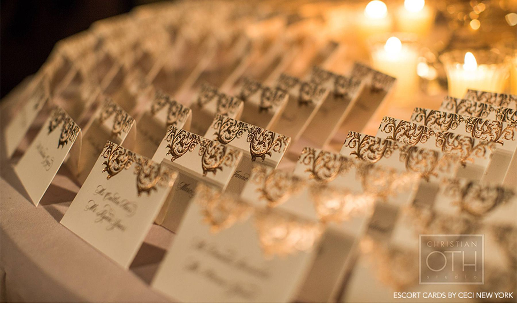 Wedding Place Cards Gold