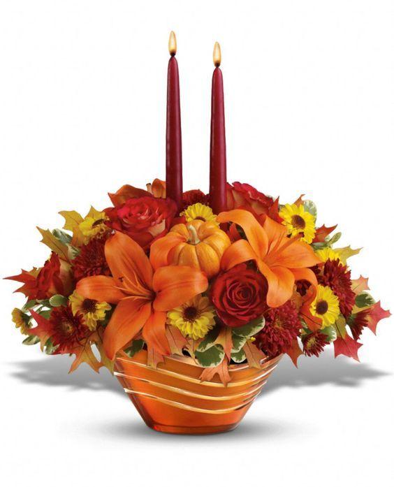 Wedding Flowers Lancaster Pa: Teleflora's Amber Waves Centerpiece