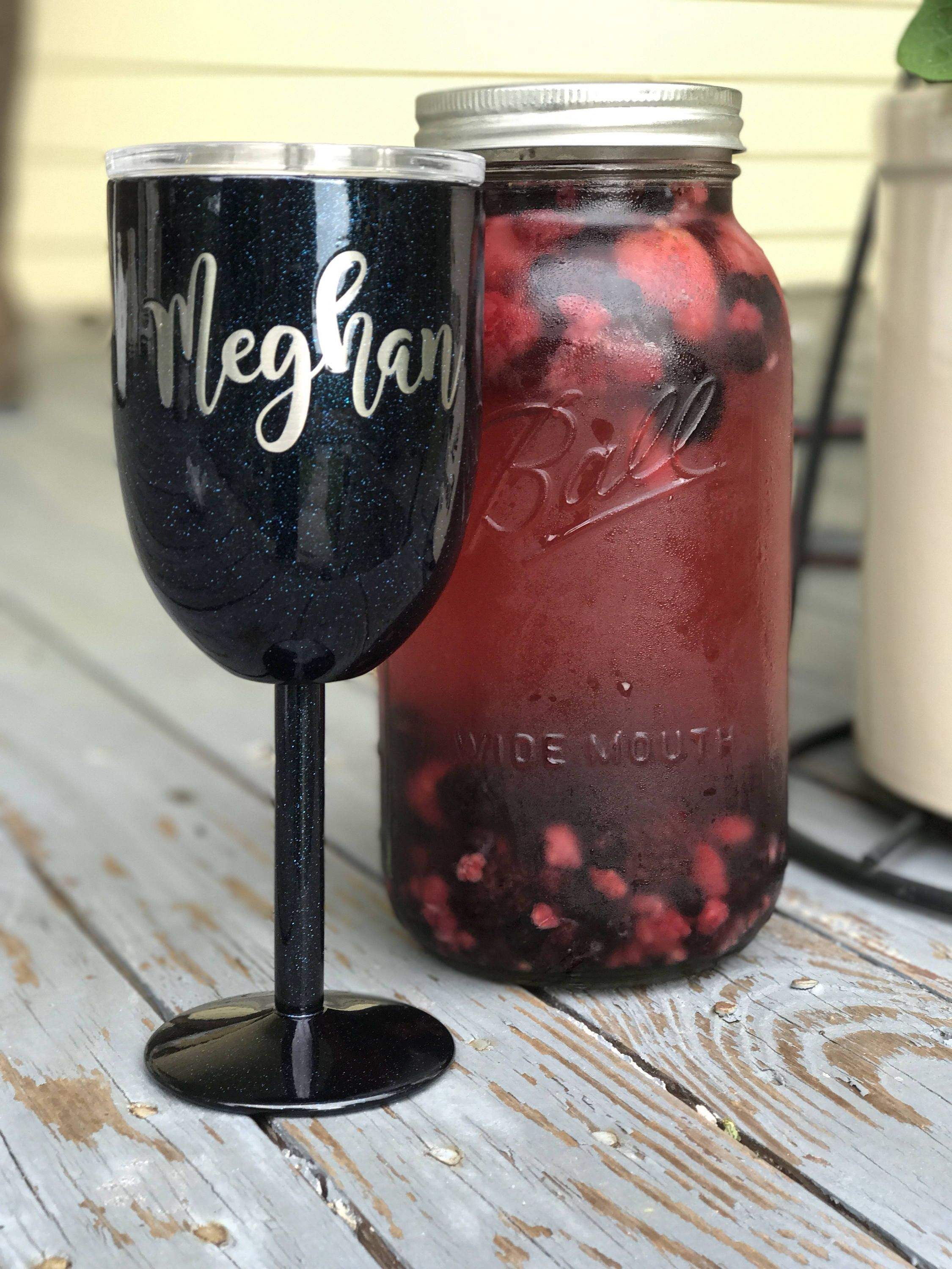Stemmed Wine Glasses Yeti Like With Lid Rtic Double Wall Stainless Powder Coated Custom Personalized Beverage Pool Summertime Wine Glasses Etsy Wine