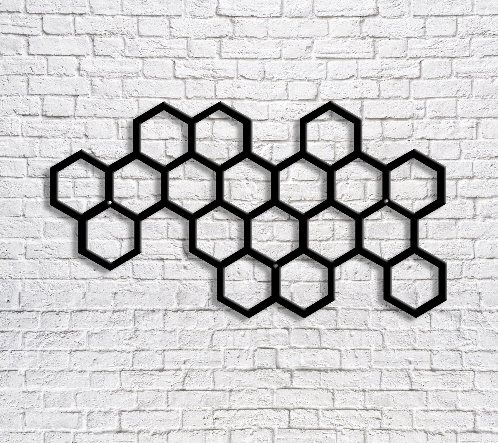 Metal Decorative Honeycomb Wall Hanging Steel Art Outside Etsy In 2020 Hanging Wall Decor Metal Wall Decor Candle Wall Decor
